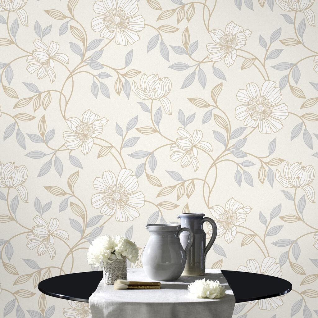 Camille white wallpaper graham brown - Papier peint graham brown ...