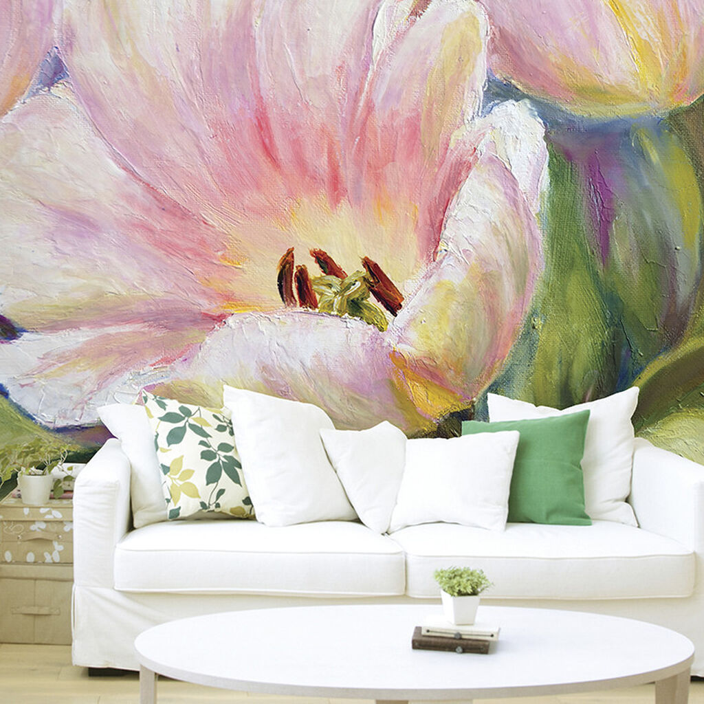 Painted tulips wall mural grahambrownuk for Airbrushed mural