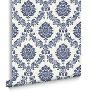 Costello Blue and White Wallpaper, , large