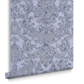 Montague Blue Wallpaper, , large