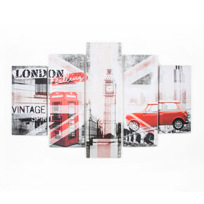 Union Montage Set Of 5 Printed Canvas, , large
