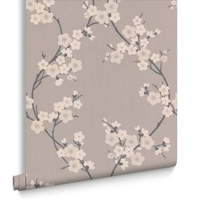 Cherry Blossom Taupe en Charcoal, , large