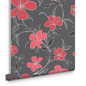 Rapture Black and Red Wallpaper, , large