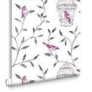 Birds et Cages Hot Pink et Charcoal, , large