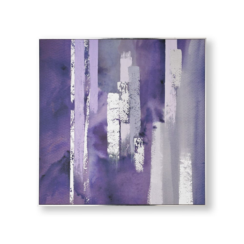 Purple Harmony Framed Canvas Wall Art , ...