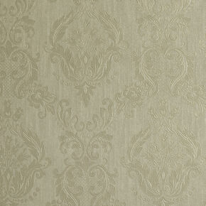 Damask Green Shimmer Wallpaper, , large