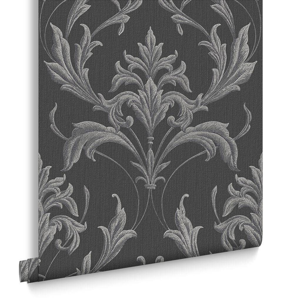 Oxford Black And Grey Wallpaper GrahamBrownUS