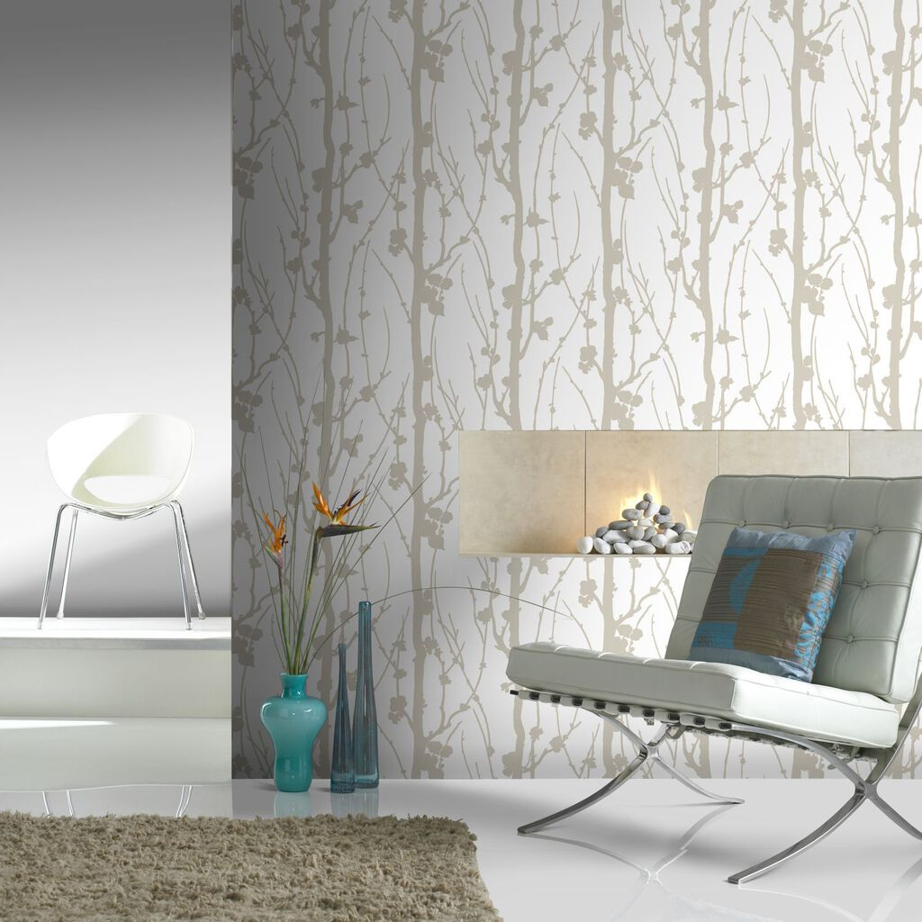 Solitude Glitter Gold Wallpaper GrahamBrownUS