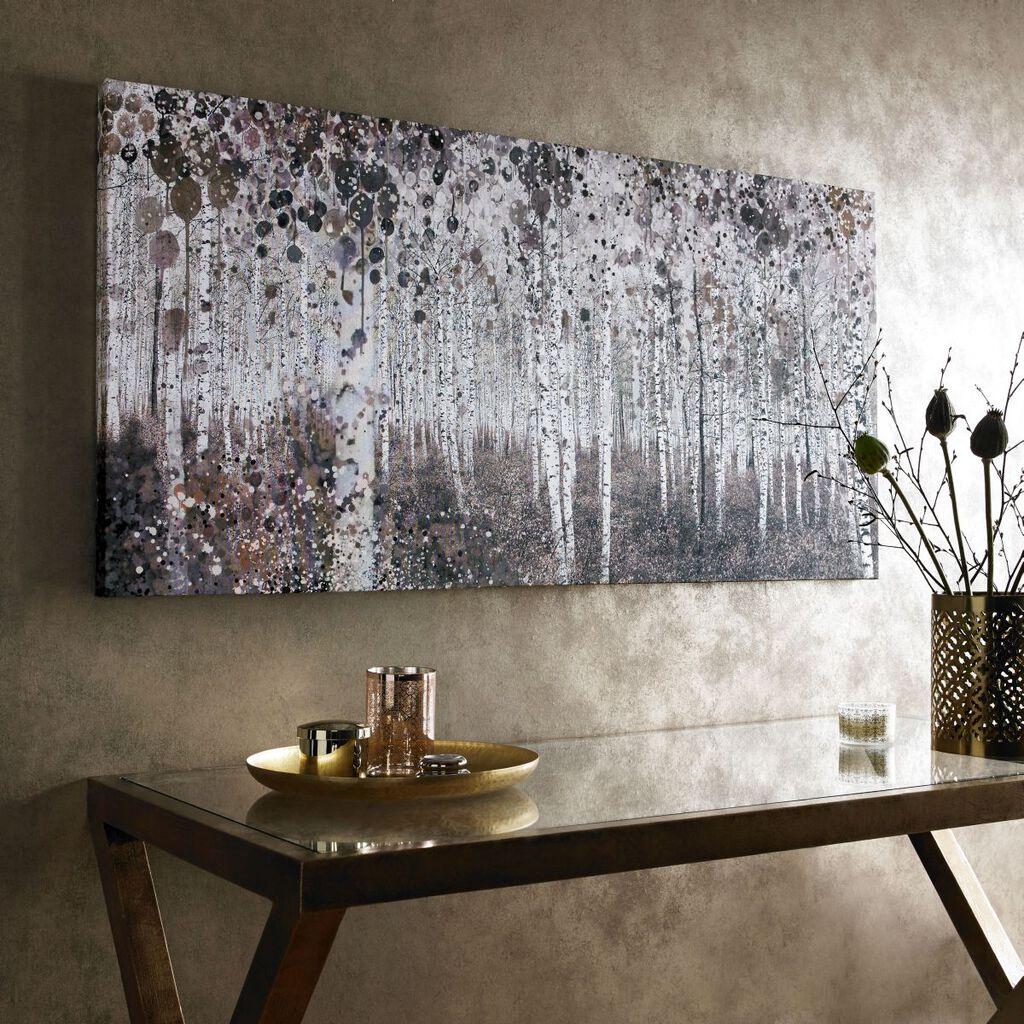 neutral watercolour woods printed canvas grahambrownuk. Black Bedroom Furniture Sets. Home Design Ideas