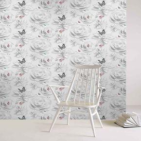 Origami Florals Wallpaper, , large
