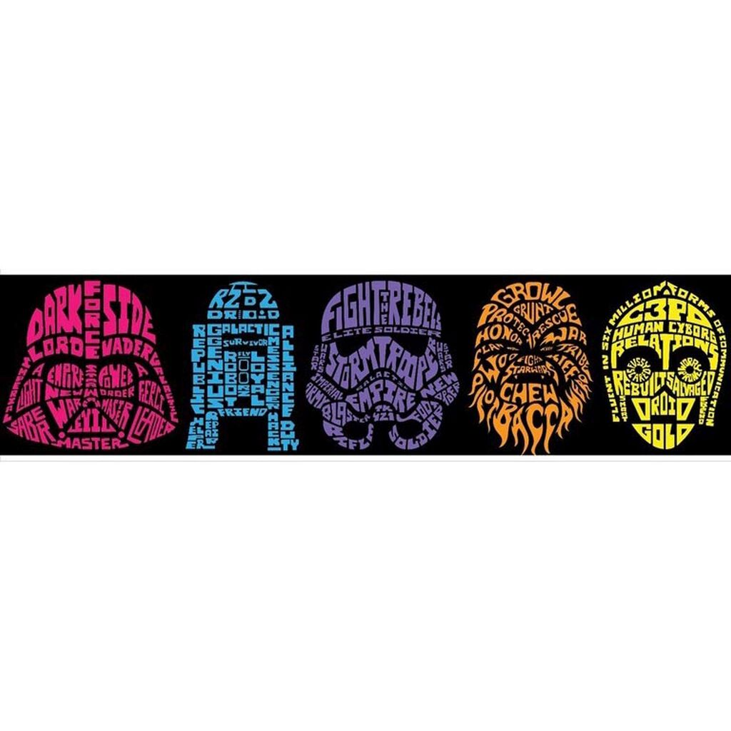 star wars peel and stick wall border