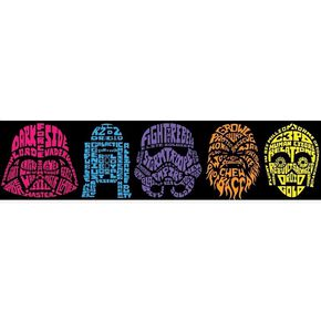 Star Wars Neon Head Border, , large