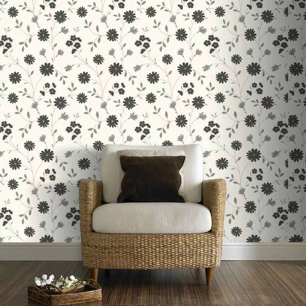 belle noir et blanc papier peint grahambrownfr. Black Bedroom Furniture Sets. Home Design Ideas