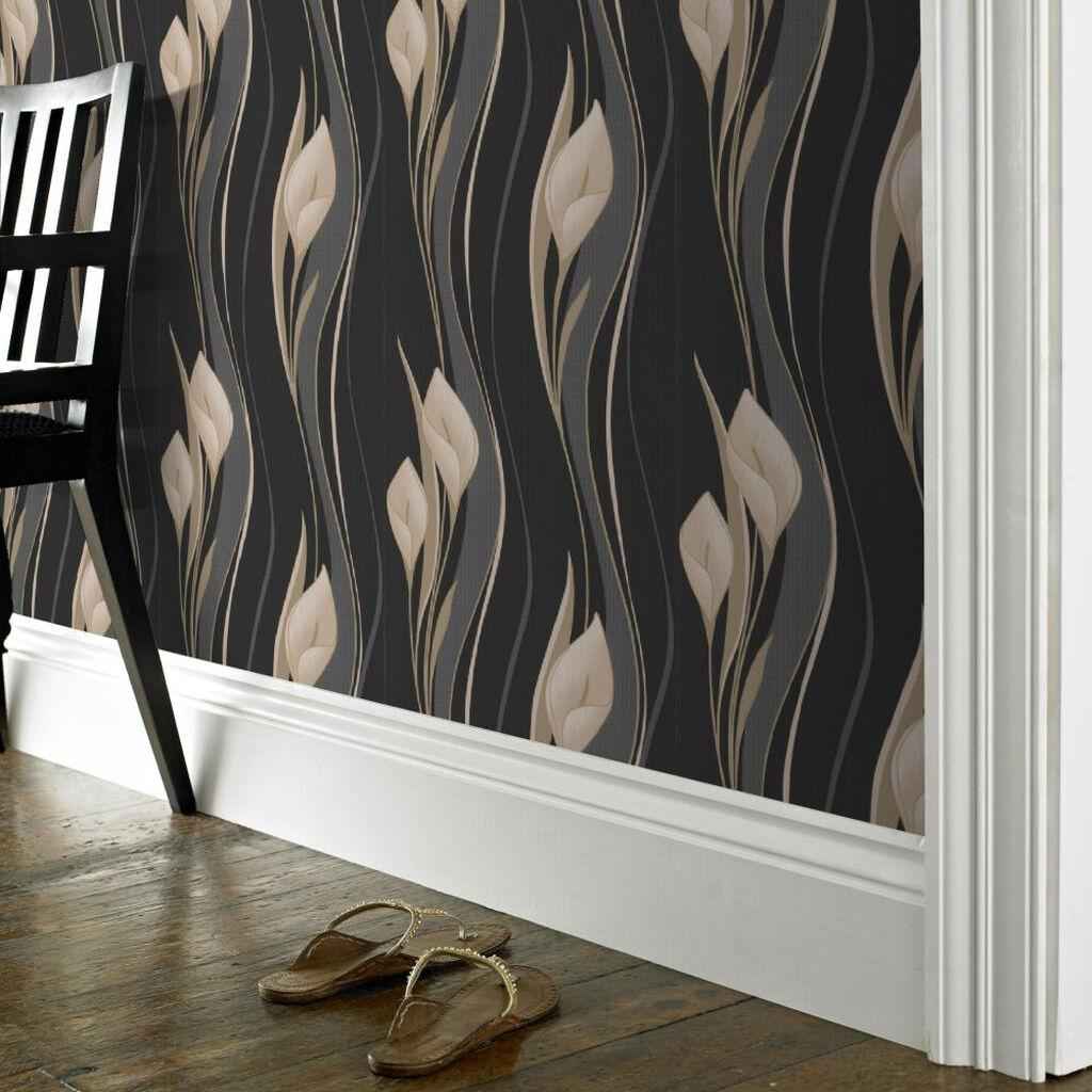peace black wallpaper graham brown. Black Bedroom Furniture Sets. Home Design Ideas