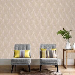 Novella Cream Wallpaper, , large