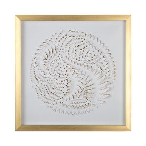Golden Leaves Framed Art, , large