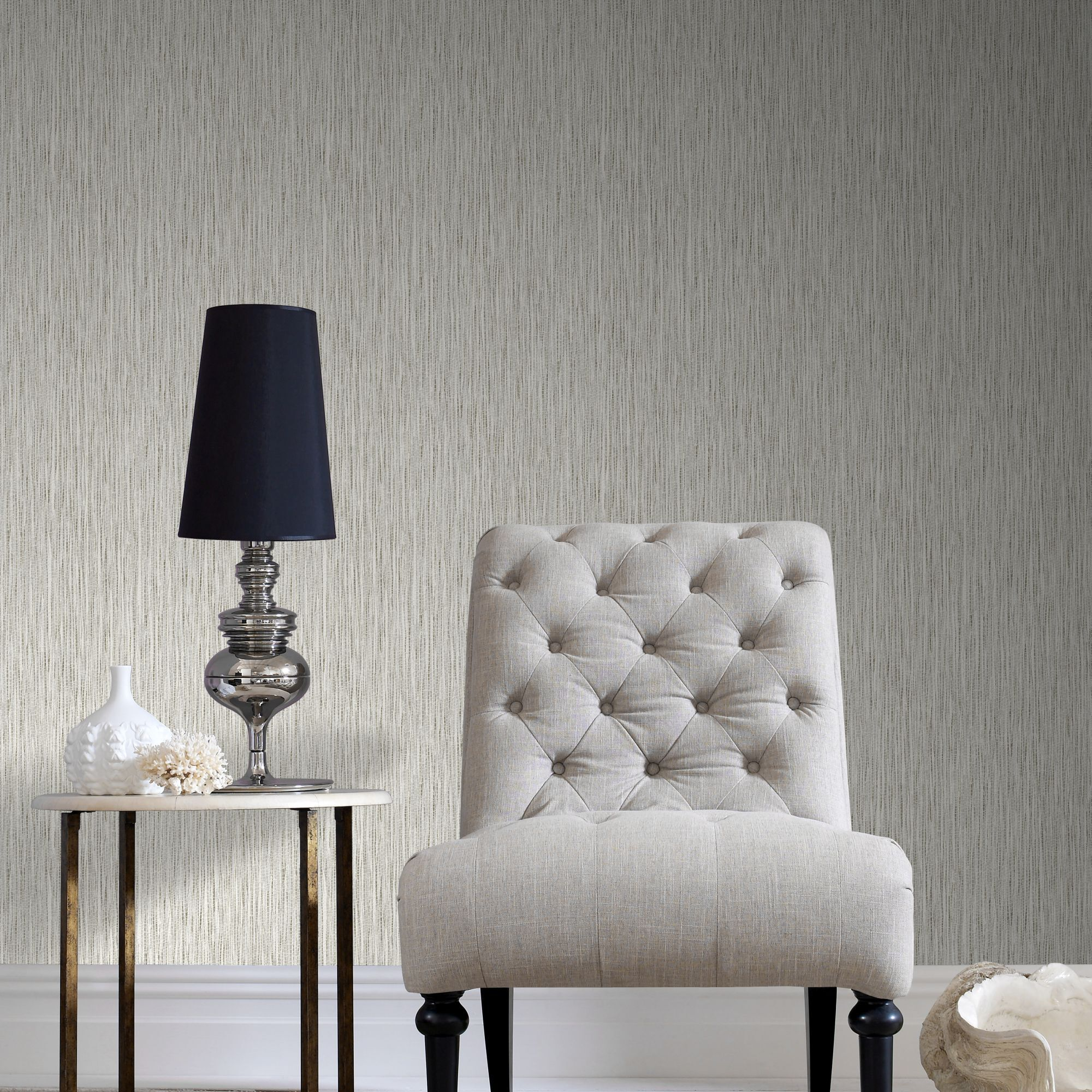 ... Large Grasscloth Cream Wallpaper, ...
