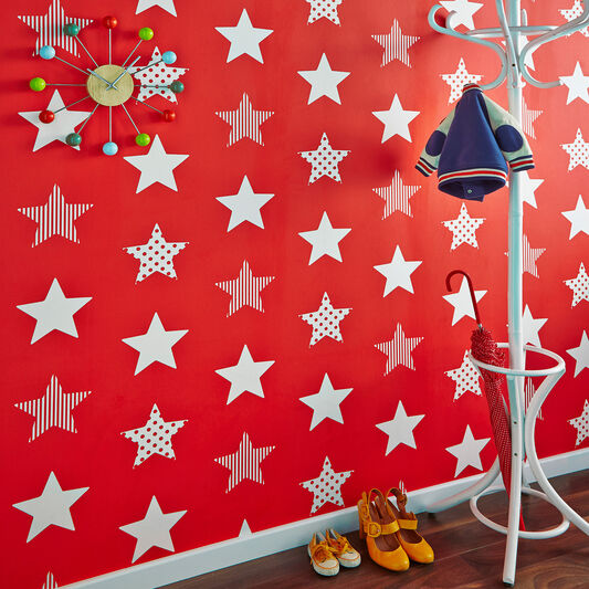 Superstar Red Wallpaper, , large