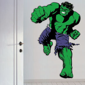 Marvel Comics Levensgrote Hulk Muursticker, , large