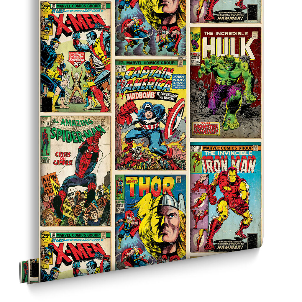 Marvel action heroes wallpaper - Papier peint super heros ...
