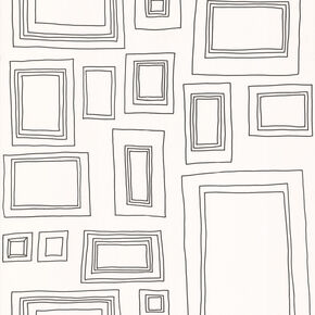 frames black and white wallpaper - White Square Frames