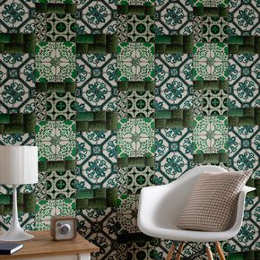 Portugese Tile Wallpaper, , large