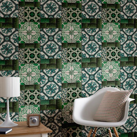 Portuguese Tile Wallpaper Grahambrownuk