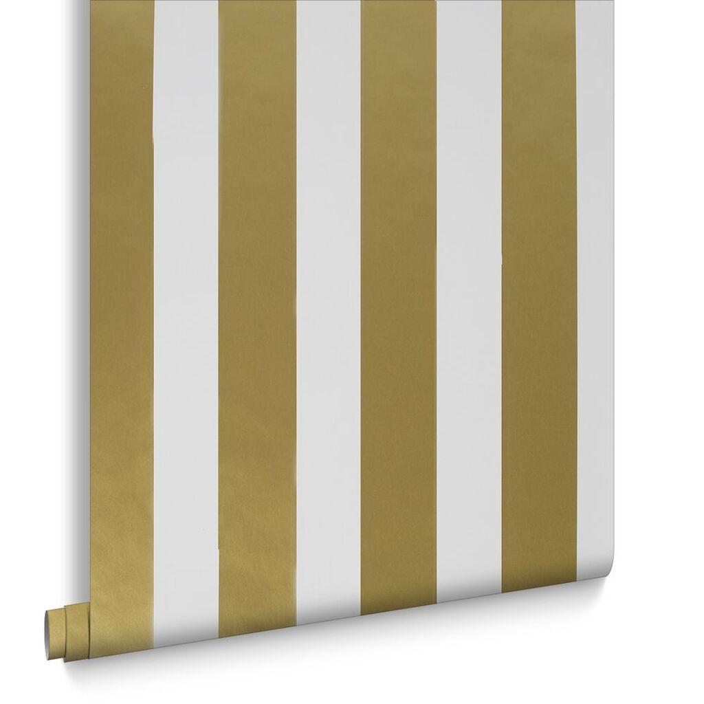Gold Wallpaper Canada: Gold Stripe Papier Peint