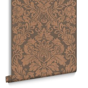 Gloriana Copper Wallpaper, , large