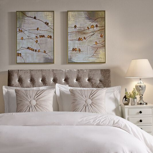 Flock Of Birds Handpainted Framed Canvas, , large