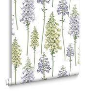 Foxglove LilacandLime Wallpaper, , large