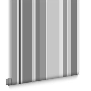 Rico Stripe Greys Wallpaper, , large