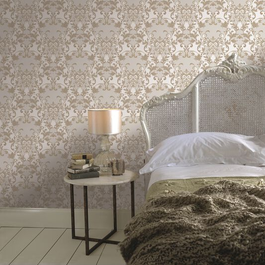 Abigail Sandstone Wallpaper, , large