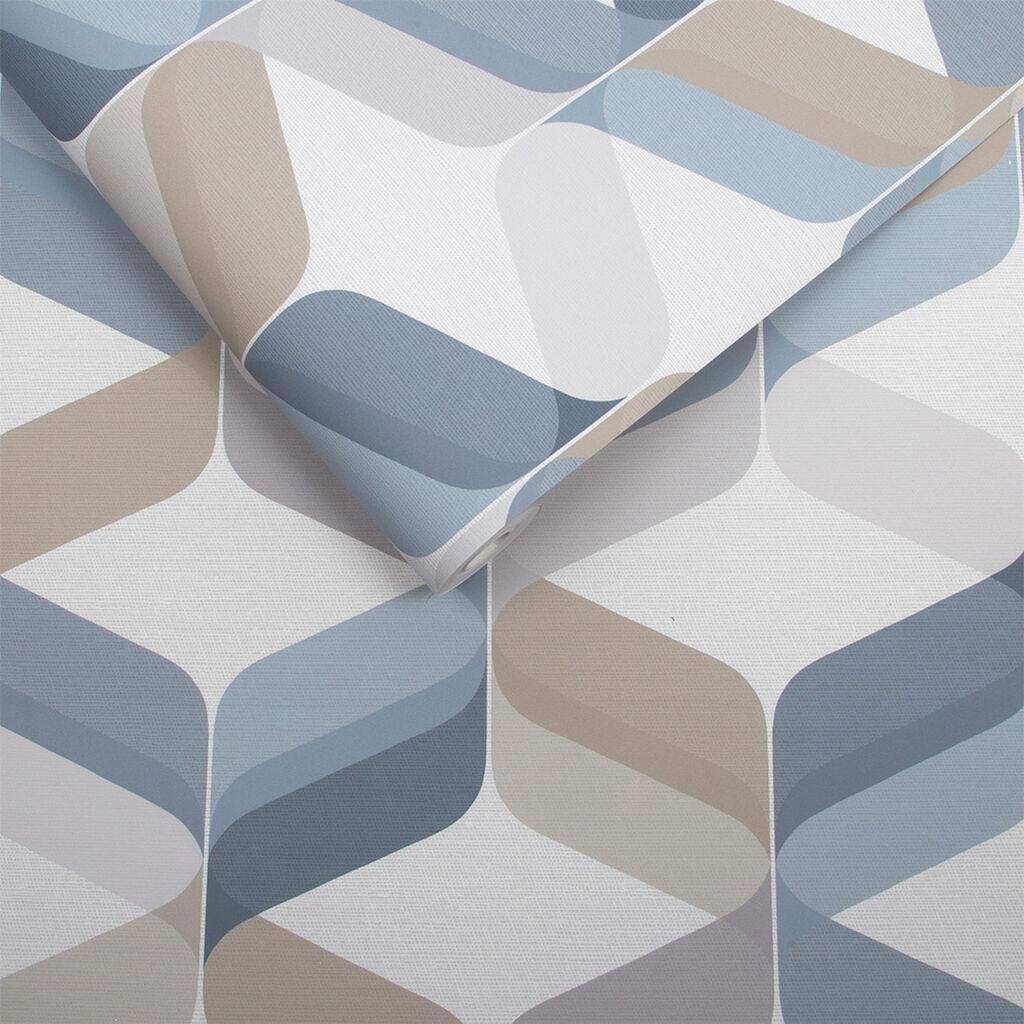 retro tapete denim grahambrownde. Black Bedroom Furniture Sets. Home Design Ideas