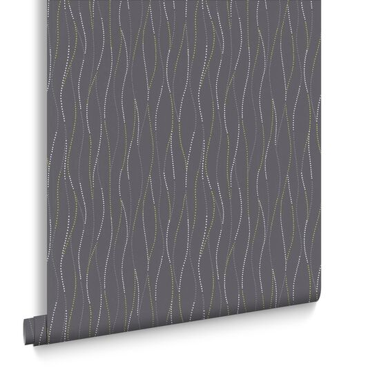 Element Grey and Green Wallpaper, , large