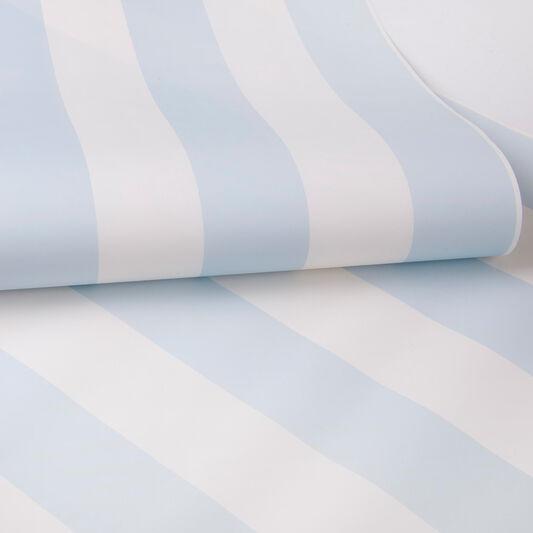 Pastel Blue Stripe Wallpaper, , large