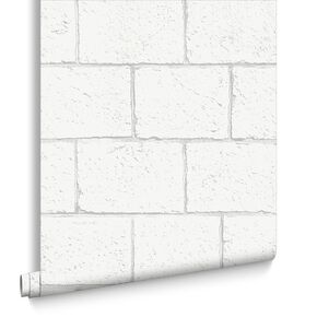 Breezeblock White Wallpaper, , large