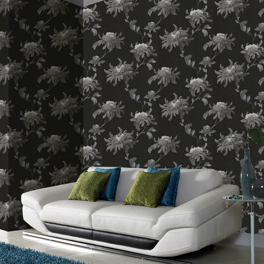 Fabulous Black and Grey Wallpaper, , large
