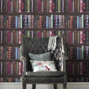 Book Shelf Wallpaper, , large