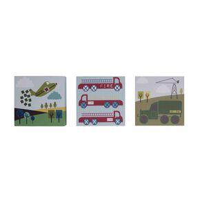 Lemon RibbonTransport - Jeu de 3 Blocks peints - 15x15cm, , large