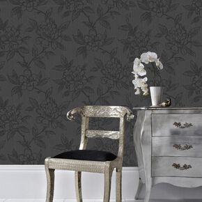 Bloom Black Wallpaper, , large