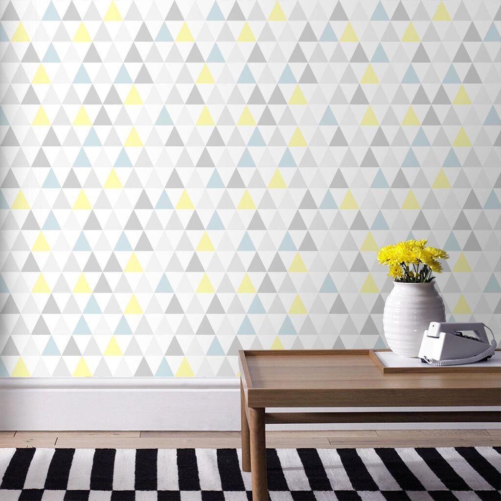 Tarek jaune bleu wallpaper grahambrownuk - Papier peint chambre bebe ...