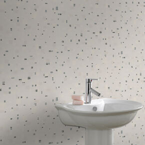 Spa Black and White Wallpaper, , large