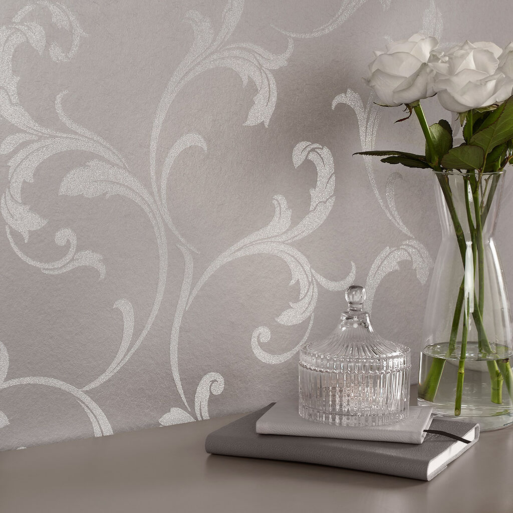baroque bead platinum wallpaper grahambrownuk