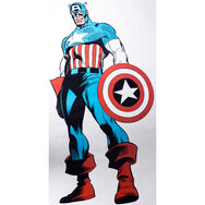 Marvel Comics Levengrote Captain America Muursticker, , large