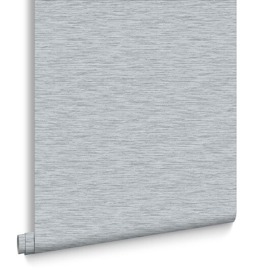 Breeze Grey and Silver Wallpaper, , large