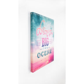 "Bedruckte Leinwand ""Dreams as big as the ocean"", , large"