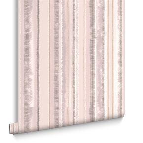 Romany Stripe Natural Wallpaper, , large