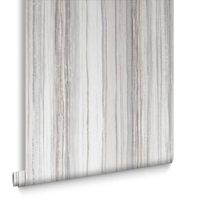 Chelsea Stripe Sand Wallpaper, , large