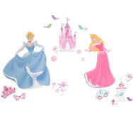 Grand sticker mural Princesses, , large